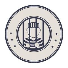 prisoner avatar character icon vector illustration design