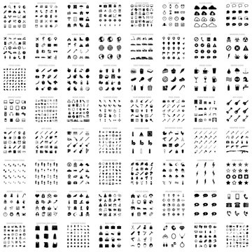 Big Collection of Vector Basic Icons. 64 different sets. 1286 icons.