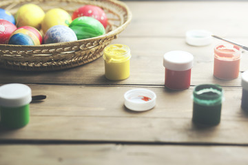 easter eggs with acrylic