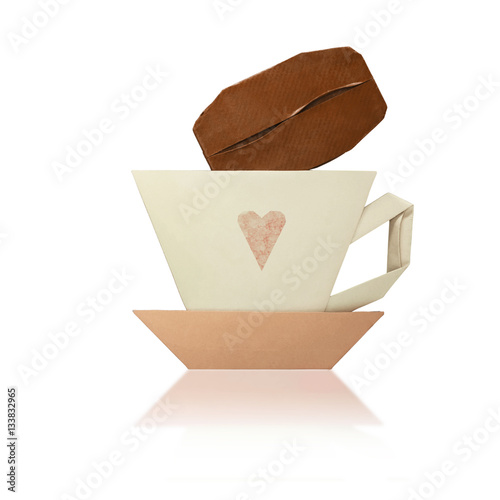 quotorigami cup of coffeequot immagini e fotografie royalty free
