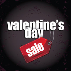 Valentines Day Sale background marketing template. EPS 10 vector.