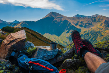 Fototapeta Odpoczynek w górach obraz