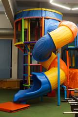 Playground in children's entertainment centre, attractions