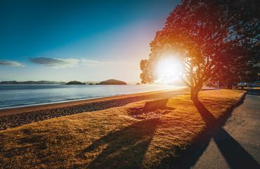 Sunrise from Te Ti Bay, Paihia, New Zealand