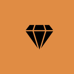 Diamond icon. flat design
