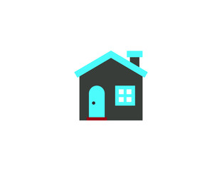 Vector colorful home building icon
