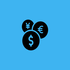Currency exchange icon. flat design