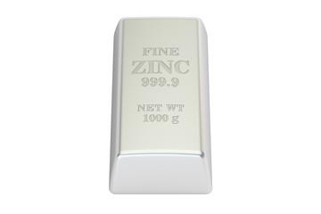 Zinc bar, 3D rendering
