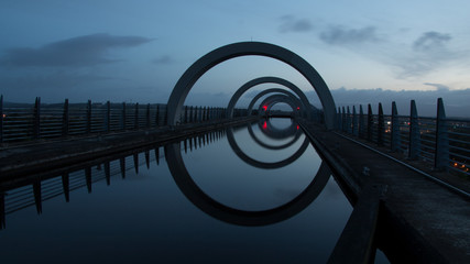 Falkirk Wheel Morgengrauen
