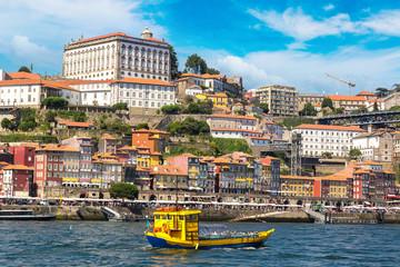Tourist boat and Douro River in Porto