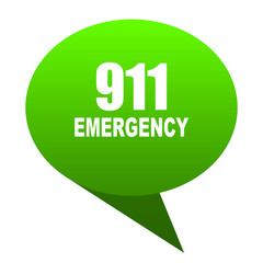 number emergency 911 green bubble icon