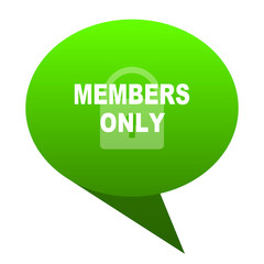 members only green bubble icon