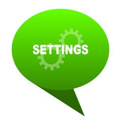 settings green bubble icon