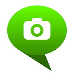 photo camera green bubble icon