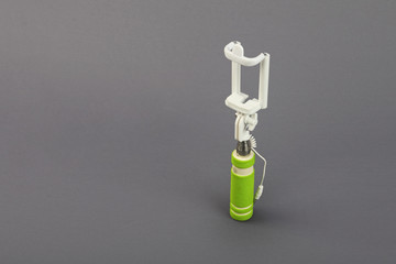Selfie Stick Isolated on Gray Background