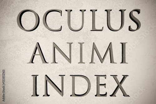 "Spy Stock Quote Gorgeous Latin Quote ""oculus Animi Index"" On Stone Background 3D"
