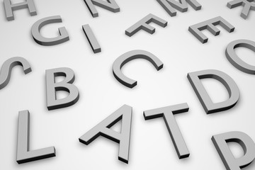 Letters isolated on white, 3d illustration