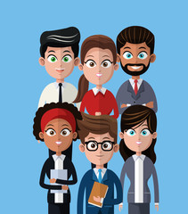 cartoon people team work professional vector illustration eps 10