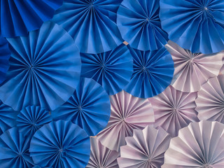 Circle shape folding paper for background