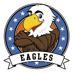 Eagle Cartoon Mascot