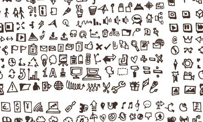 Vector Doodle Icons. Universal Set.