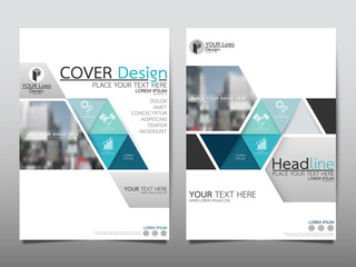 Blue technology triangle flyer cover business brochure vector design, Leaflet advertising abstract background, Modern poster magazine layout template, Annual report for presentation.