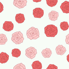 Seamless background of roses pictures