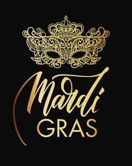 Mardi Gras mask of lace background.