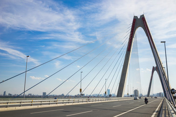 Nhat Tan Bridge (or Vietnam - Japan Friendship Bridge),the cable-stayed bridge crossing the Red River (Asia) in Hanoi, inaugurated on 4 January 2015