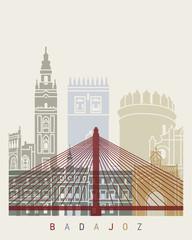 Wall Mural - Badajoz skyline poster
