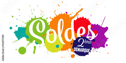 Soldes 2 me d marque stock image and royalty free vector files - Soldes 2eme demarque ...
