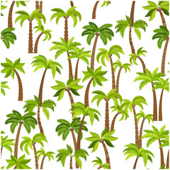 Palm trees seamless pattern. Beautiful vectro palma tree design for textile industry