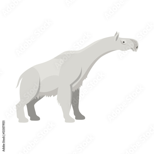 """Prehistoric animal. Vector cartoon ancient mammal ice age ..."