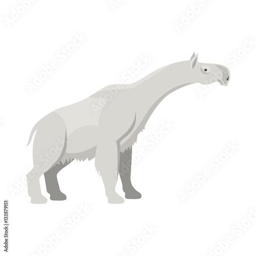 """Prehistoric animal. Vector cartoon ancient mammal ice age ..."