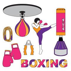 Boxing sport woman