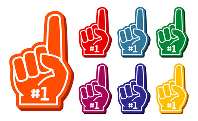 foam finger clipart. colorful foam fingers vector set finger clipart r