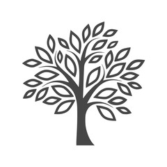 Simple tree icon - vector Illustration