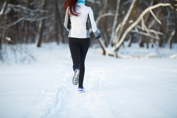 Young girl on morning jog