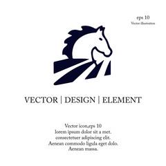 head horse icon logo