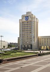 Independence Square in Minsk. Belarus
