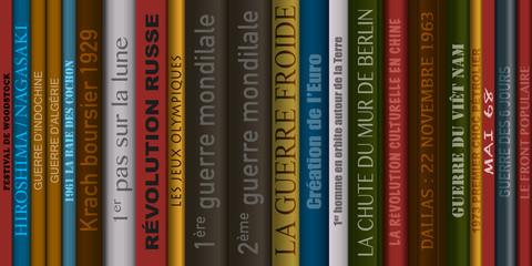 Livres d'histoire - éducation - savoir - humanité