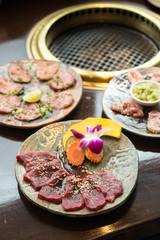 Premium japanese Rosu beef sliced