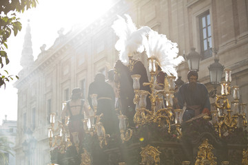 Christ on Holy week in Seville, Andalusia, Spain.