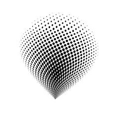 halftone globe logo  vector symbol icon design.