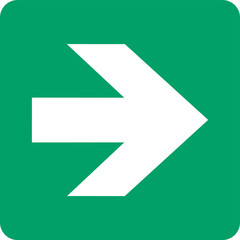 Direction, arrow (90° increments), safe condition