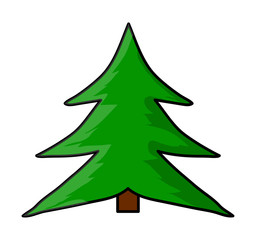 christmas tree cartoon vector symbol icon design.
