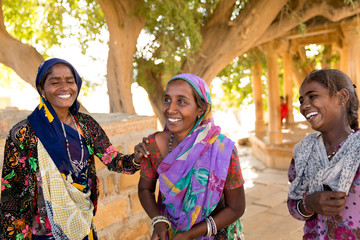 Women sisters in a small village in India
