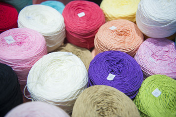 many multi color yarn for knitting