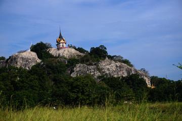 Praputthachai Buddha temple located in the district of Saraburi on the hillside at Samlaan mountain. More than 400 years