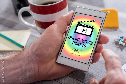 quotonline movie tickets buying concept on a smartphone